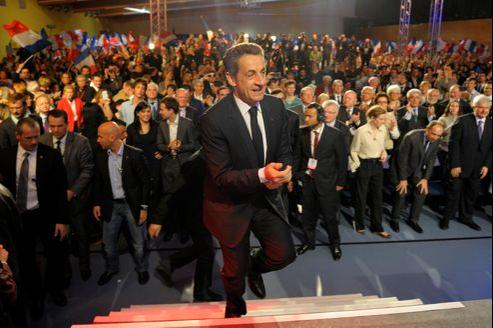 Nicolas Sarkozy, jeudi, au Raincy.