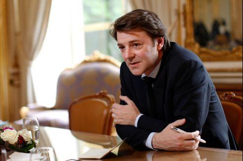 François Baroin dans son bureau de la rue de Lille, mercredi, à Paris.