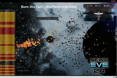 Capture d'écran d'un flux vidéo de l'opération «Burn Jita».