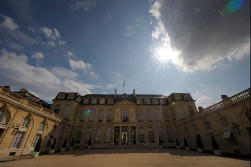 La cour du Palais de l'Élysée.