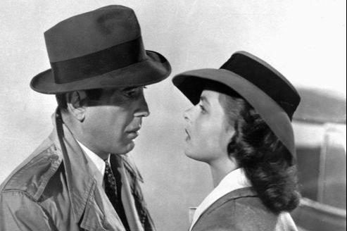 Humphrey Bogart et Ingrid Bergman dans le film Casablanca.