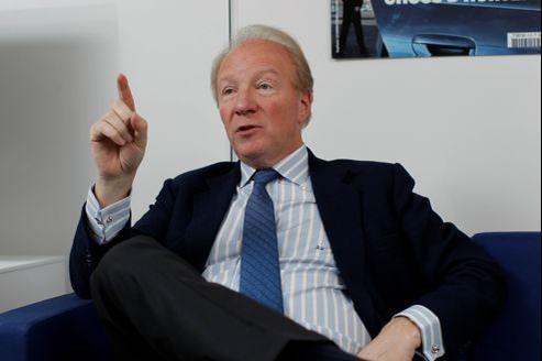 Brice Hortefeux, en mars 2012, dans son bureau parisien.