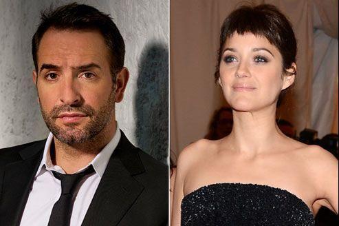 Jean Dujardin et Marion Cotillard, deux stars du cinéma français.