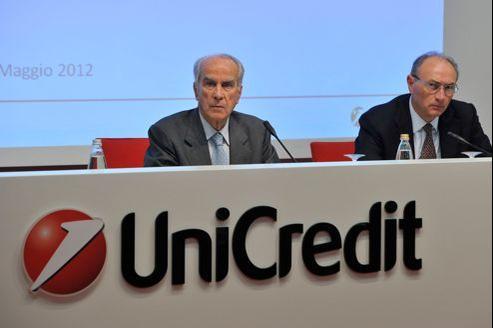 Le numéro un italien de la banque UniCredit est concerné par l'abaissement des notes de crédit annoncé par Moody's.