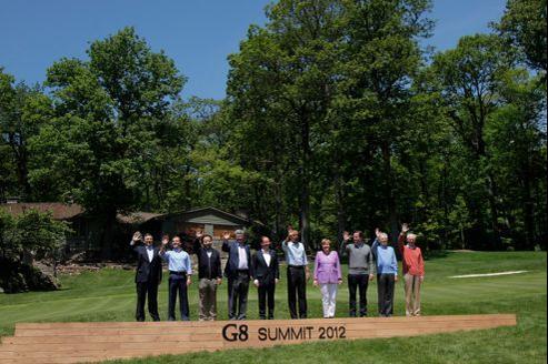 Photo «de famille» des membres du G8 prise samedi.