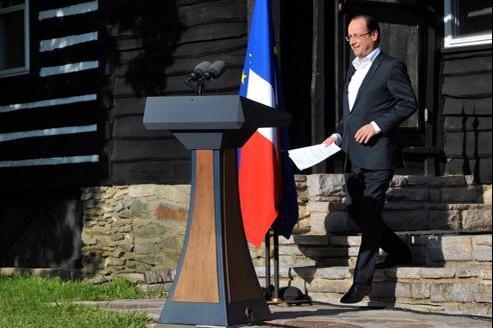 François Hollande à Camp David, pour le sommet du G8, samedi.