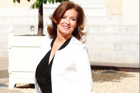 Valérie Trierweiler, lors de la passation de pouvoirs à l'Élysée, le 15 mai.