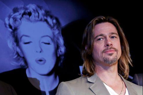«Pour mon personnage (Jackie Cogan), le capitalisme est un coupe-gorge», explique Brad Pitt, ici en conférence au festival.