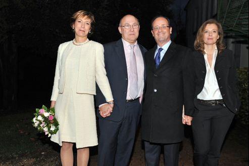 François Hollande était le témoin de mariage en décembre dernier de Michel Sapin et Valérie de Senneville.