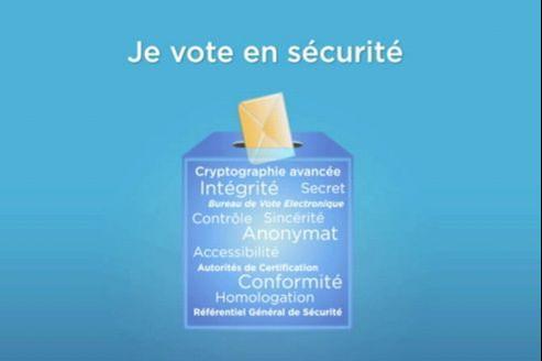 Capture d'écran de la vidéo de présentation du vote par Internet du Quai d'Orsay.