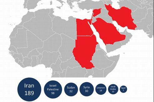 Les pays infectés selon Kaspersky Lab.