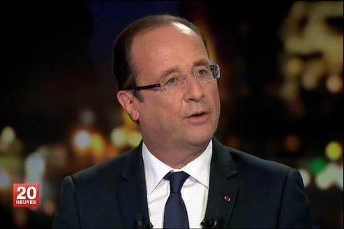 François Hollande, mardi soir, au JT de France 2.