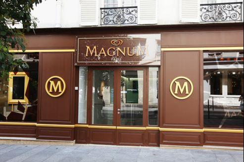 magnum et danone ouvrent leurs propres boutiques. Black Bedroom Furniture Sets. Home Design Ideas