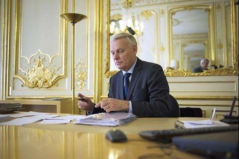 Le premier ministre Jean-Marc Ayrault à l'Hôtel Matignon, le 17 mai.