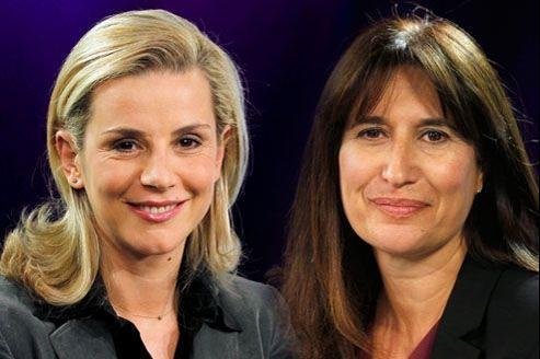 Laurence Ferrari et Catherine Nayl, directrice de l'info du groupe TF1.