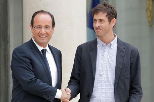 Roméo Langlois a été reçu par le président de la République pendant une demi-heure.