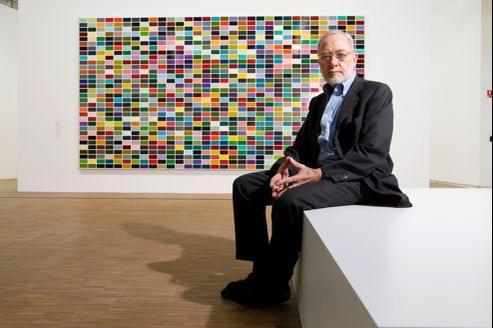 Gerhard Richter au Centre Pompidou, vendredi dernier à Paris.
