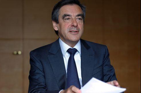 François Fillon, dans son bureau à Paris. Crédit: François Bouchon/Le Figaro