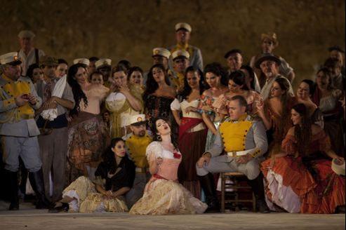 Pour la troisième année consécutive, le site de Massada devient une immense scène en plein air.