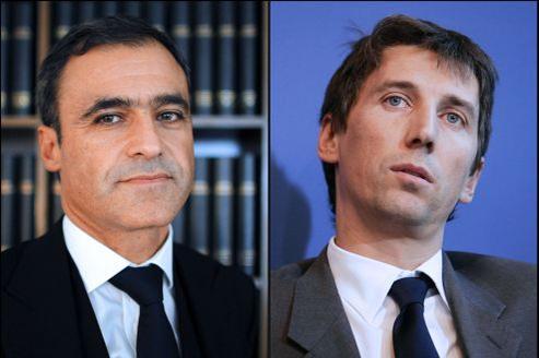L'avocat Pascal Wilhelm, ex-mandataire de Liliane Bettencourt, et l'homme d'affaires Stéphane Courbit.