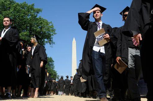 Des étudiants de l'université George Washington, le 20 mai dernier, jour de la cérémonie de remise de diplômes.