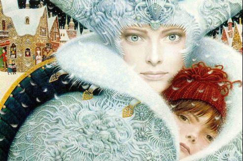 Couverture d'une édition spéciale de La Reine des Neiges, illustrée par Vladyslav Yerko. (© Anderson House Foundation)