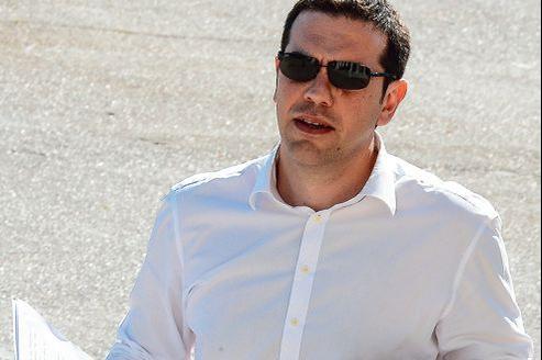 Favori dans les sondages, le leader de Syriza s'apprête à rencontrer la presse, à Athènes, le 12 juin.