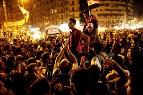 Manifestation sur la place Tahrir vendredi.