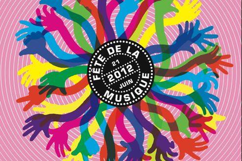 L'affiche de la 31e Fête de la musique (Crédits: Isabelle Jégo)