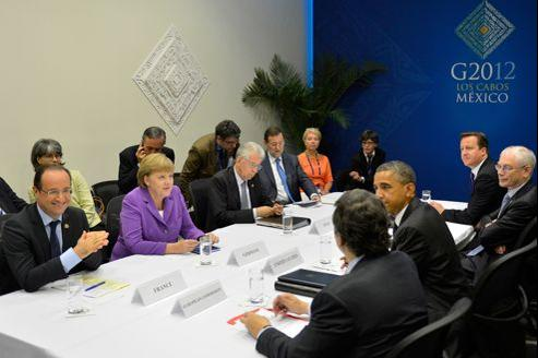 Rencontre entre chefs d'État lors du sommet du G20 de Los Cabos.