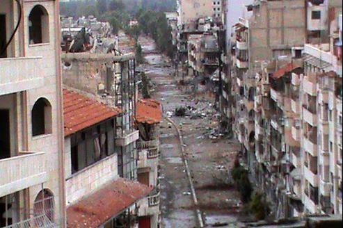 Un quartier résidentiel de la ville de Homs, en Syrie, dimanche.