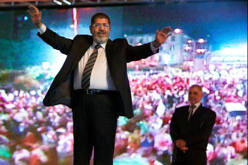 Mohammed Morsi lors d'une réunion électorale en mai, au Caire.