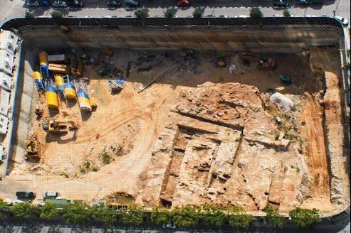 Le port phénicien de Beyrouth avant sa destruction mardi. Le site était vieux de 3000 ans. Crédits photo: association APPL
