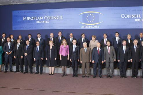 Les leaders européens, jeudi à Bruxelles.