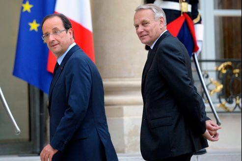 François Hollande et Jean-Marc Ayrault mardi dernier à l'Élysée.