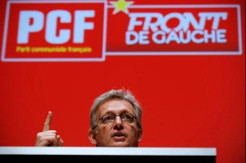 Pierre Laurent, le numéro un du PCF, après la conférence nationale du parti, le 20 juin dernier à la Mutualité (Paris).