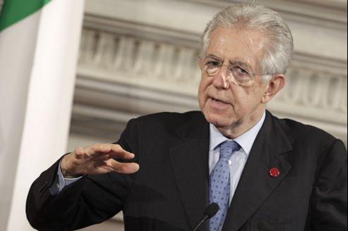 Mario Monti, le président du Conseil italien.