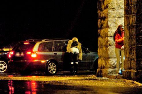 Des prostituées dans une rue d'Oslo, en Norvège, en 2007.