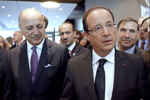Laurent Fabius et François Hollande, ce vendredi.