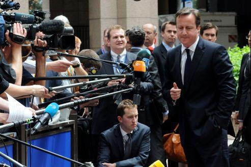 David Cameron, à Bruxelles, le 28 juin dernier.