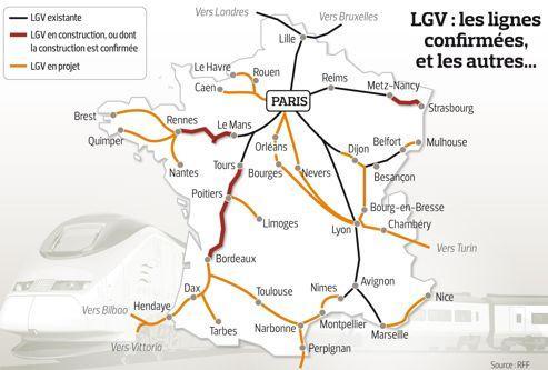 L'État va renoncer à des projets de lignes TGV