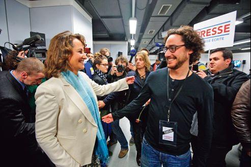 Ségolène Royal et Thomas Hollande le 29avril au Palais de Paris-Bercy pendant la campagne présidentielle.