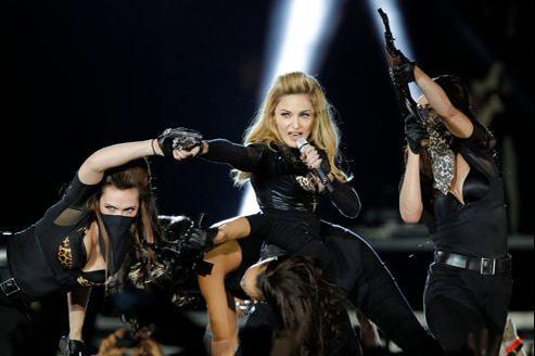 Madonna au Stade de France le 14 juillet 2012. REUTERS/Benoit Tessier