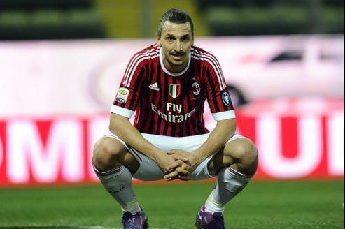 L'extraordinaire attaquant suédois de l'AC Milan, Zlatan Ibrahimovic.