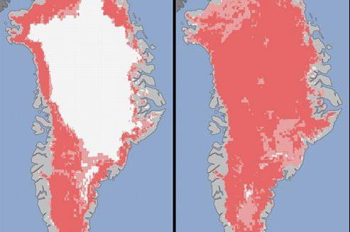 Groenland : sa calotte glaciaire a presque fondu
