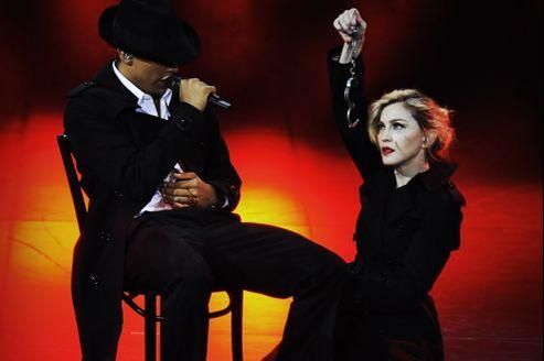 Madonna, jeudi, sur la scène de l'Olympia.