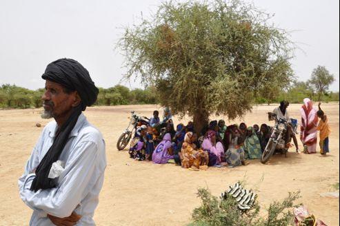Des réfugiés maliens dans le camp de Mentao, à 185 km de Ouagadougou.