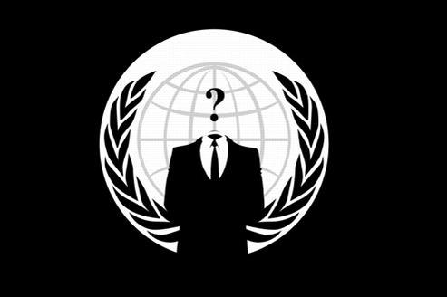 Le logo des Anonymous: un homme en costume, dont le visage est remplacé par un point d'interrogation. / DR