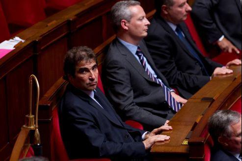 Christian Jacob (au premier plan), président du groupe UMP à l'Assemblée, et Bruno Le Maire, député UMP de l'Eure.