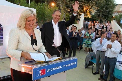 Michèle Tabarot et Jean-François Copé, mercredi soir, au Cannet.